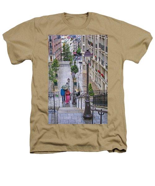 Paris Sous La Pluie Heathers T-Shirt by Nikolyn McDonald