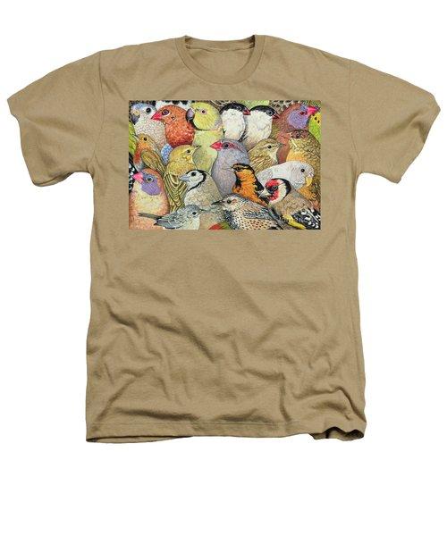 Patchwork Birds Heathers T-Shirt by Ditz