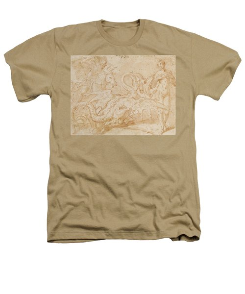 Perseus Rescuing Andromeda Red Chalk On Paper Heathers T-Shirt by or Zuccaro, Federico Zuccari