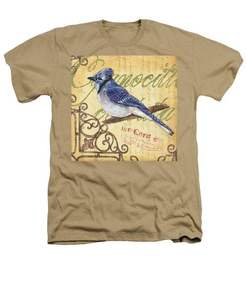Pretty Bird 4 Heathers T-Shirt by Debbie DeWitt