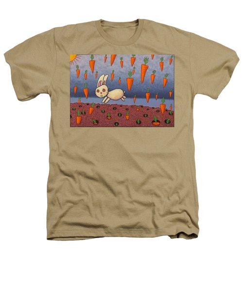 Raining Carrots Heathers T-Shirt by James W Johnson