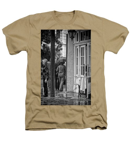 Rainy Day Lunch New Orleans Heathers T-Shirt by Kathleen K Parker