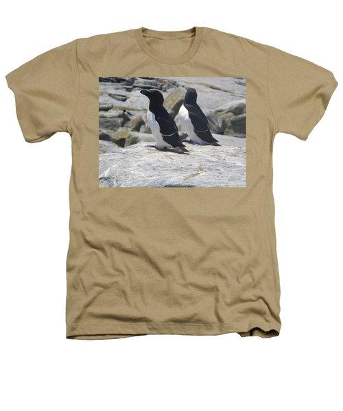 Razorbills 2 Heathers T-Shirt by James Petersen