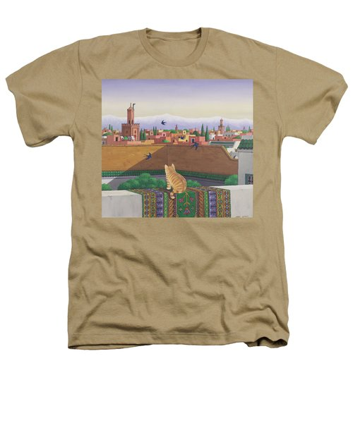 Rooftops In Marrakesh Heathers T-Shirt by Larry Smart