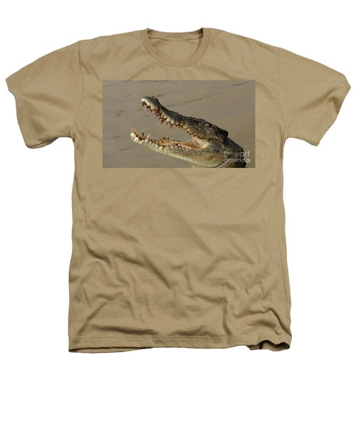 Salt Water Crocodile 1 Heathers T-Shirt by Bob Christopher