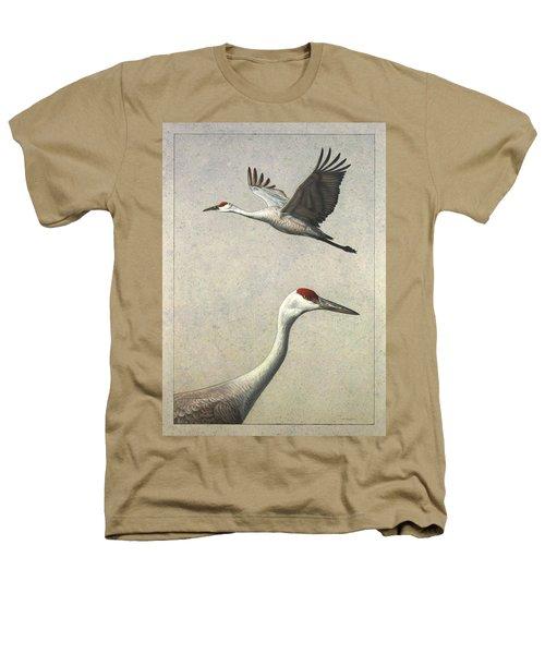 Sandhill Cranes Heathers T-Shirt by James W Johnson