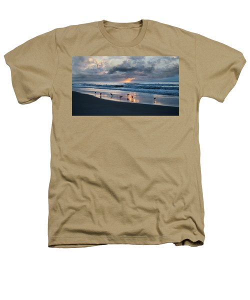 Sandpipers In Paradise Heathers T-Shirt by Betsy Knapp