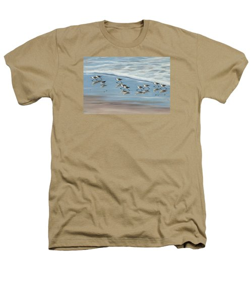 Sandpipers Heathers T-Shirt by Tina Obrien