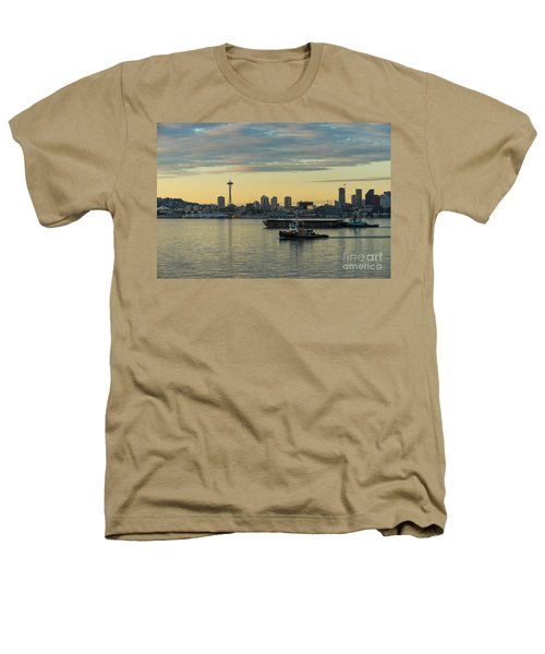 Seattles Working Harbor Heathers T-Shirt by Mike Reid