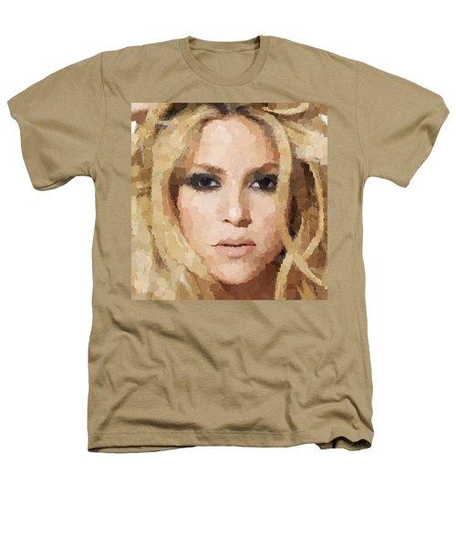 Shakira Portrait Heathers T-Shirt by Samuel Majcen