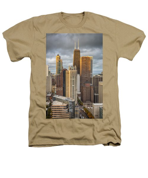 Streeterville From Above Heathers T-Shirt by Adam Romanowicz