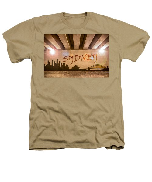 Sydney Graffiti Skyline Heathers T-Shirt by Semmick Photo