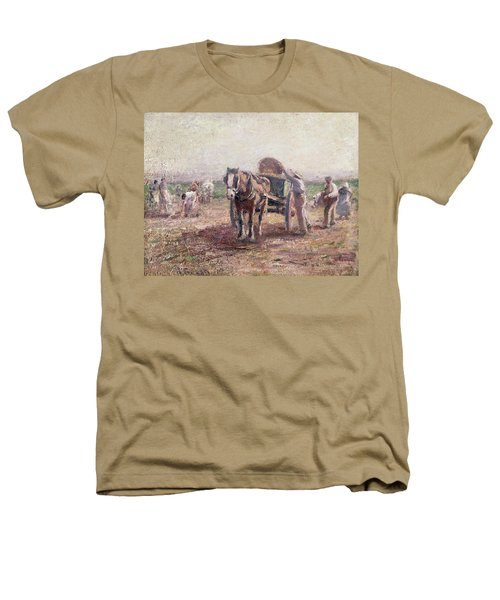The Potato Pickers Heathers T-Shirt by Harry Fidler