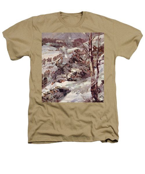 The Russians Fighting Their Way Over The Carpathians Heathers T-Shirt by Cyrus Cuneo