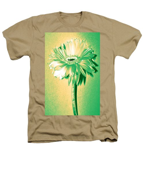 Touch Of Turquoise Zinnia Heathers T-Shirt by Sherry Allen