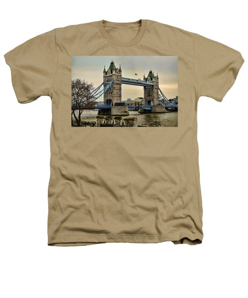 Tower Bridge On The River Thames Heathers T-Shirt by Heather Applegate