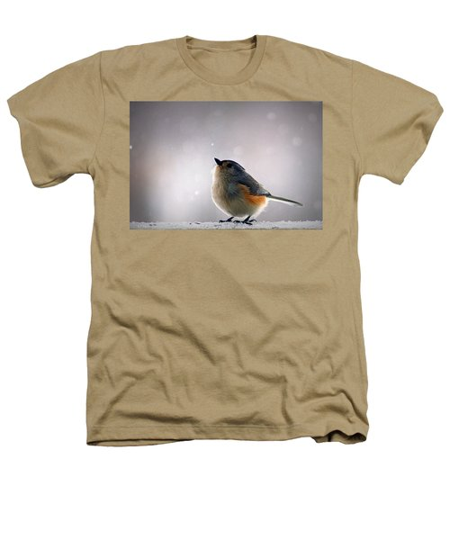 Tufted Titmouse Heathers T-Shirt by Cricket Hackmann