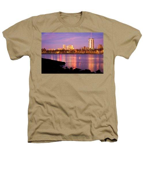 Tulsa Oklahoma - University Tower View Heathers T-Shirt by Gregory Ballos