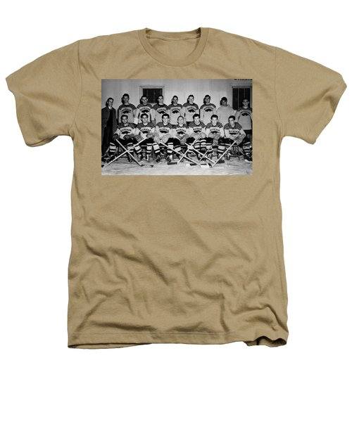 University Of Michigan Hockey Team 1947 Heathers T-Shirt by Mountain Dreams