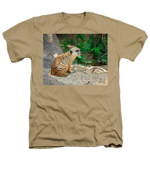 Watchful Meerkat Heathers T-Shirt by Jon Woodhams