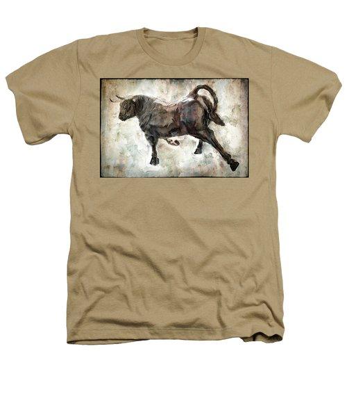 Wild Raging Bull Heathers T-Shirt by Daniel Hagerman