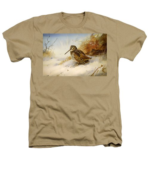 Winter Woodcock Heathers T-Shirt by Mountain Dreams