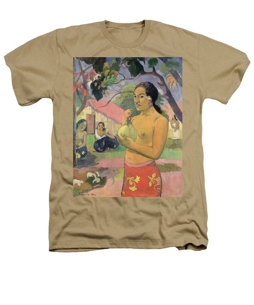 Woman With Mango Heathers T-Shirt by Paul Gauguin