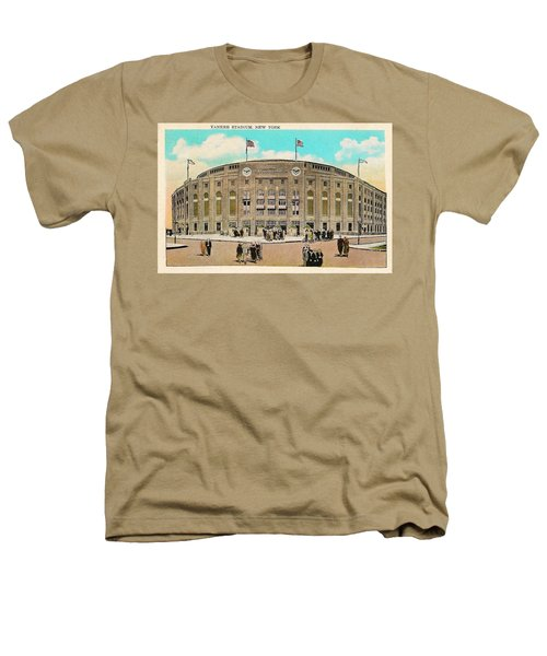 Yankee Stadium Postcard Heathers T-Shirt by Digital Reproductions