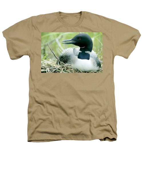 Common Loon, La Mauricie National Park Heathers T-Shirt by Philippe Henry