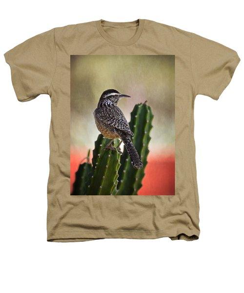 A Cactus Wren  Heathers T-Shirt by Saija  Lehtonen