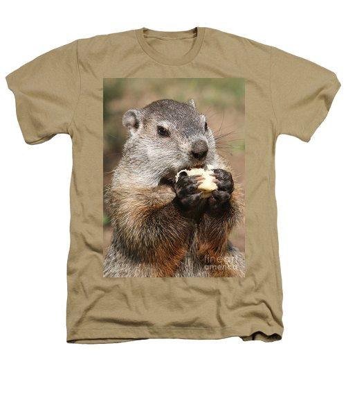 Animal - Woodchuck - Eating Heathers T-Shirt by Paul Ward