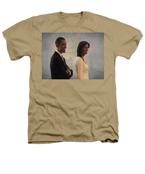 President Obama And First Lady Heathers T-Shirt by David Dehner