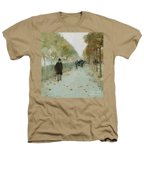Quai Du Louvre Heathers T-Shirt by Childe Hassam