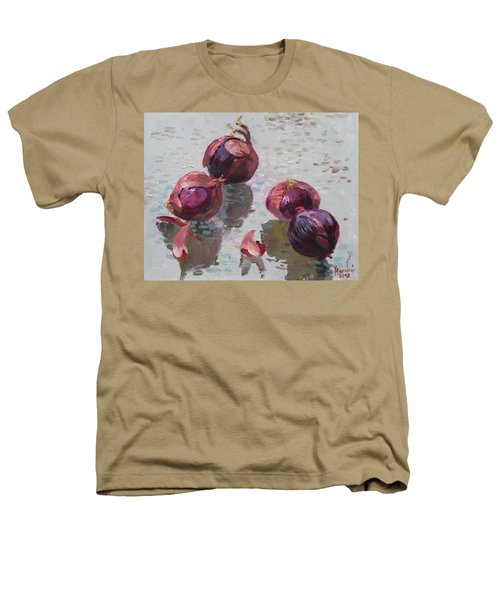 Red Onions Heathers T-Shirt by Ylli Haruni