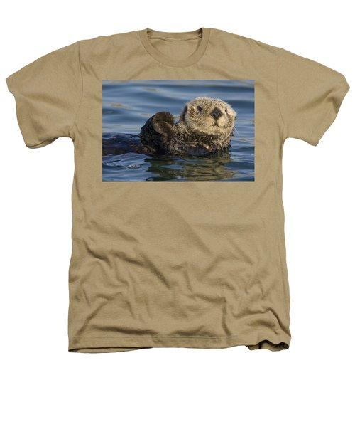 Sea Otter Monterey Bay California Heathers T-Shirt by Suzi Eszterhas