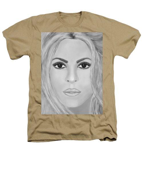 Shakira Black And White Heathers T-Shirt by Mathieu Lalonde