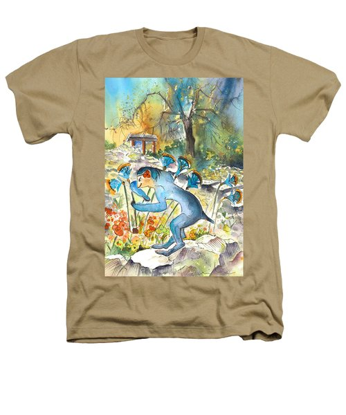 The Minotaur In Knossos Heathers T-Shirt by Miki De Goodaboom