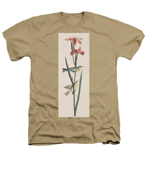 Blue Yellow-backed Warbler Heathers T-Shirt by John James Audubon