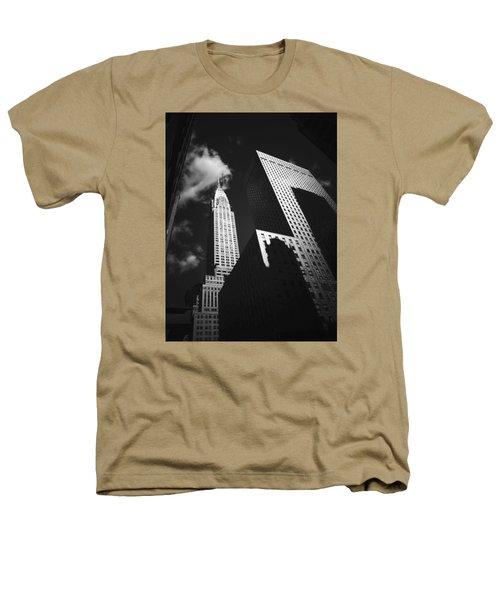 Chrysler Building - New York City Heathers T-Shirt by Vivienne Gucwa
