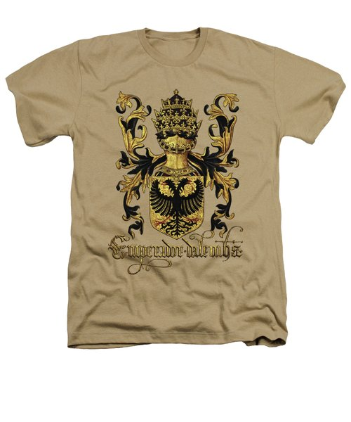 Emperor Of Germany Coat Of Arms - Livro Do Armeiro-mor Heathers T-Shirt by Serge Averbukh