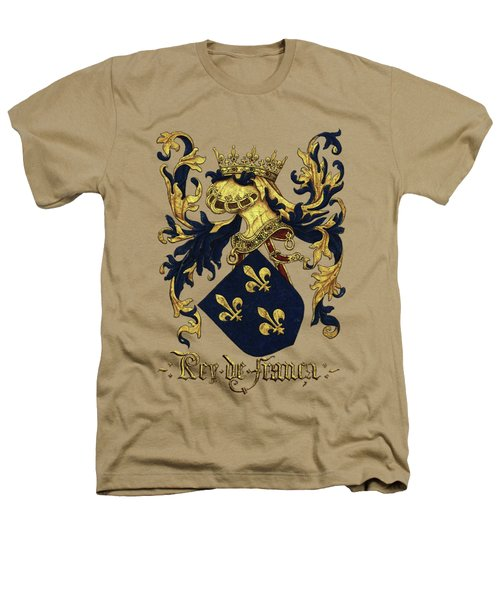 King Of France Coat Of Arms - Livro Do Armeiro-mor  Heathers T-Shirt by Serge Averbukh