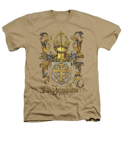Kingdom Of Jerusalem Coat Of Arms - Livro Do Armeiro-mor Heathers T-Shirt by Serge Averbukh