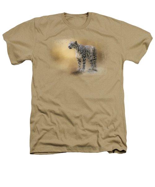 Snow Leopard Heathers T-Shirt by Jai Johnson