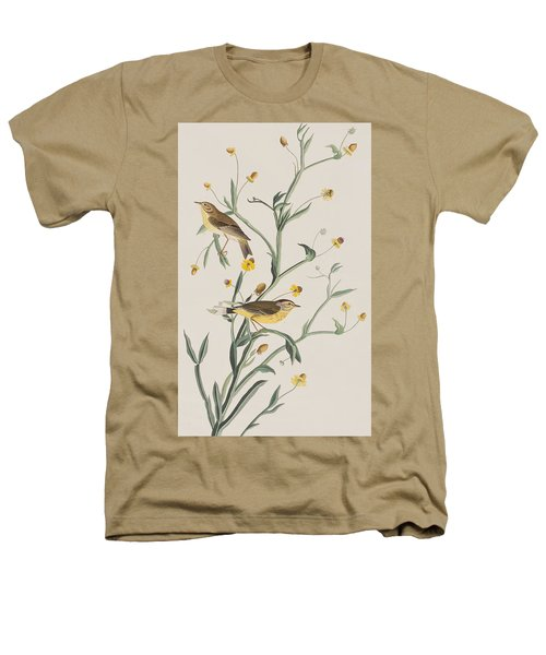 Yellow Red-poll Warbler Heathers T-Shirt by John James Audubon