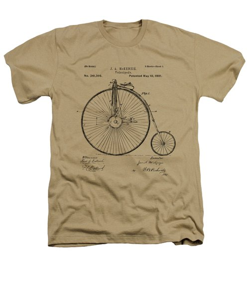 1881 Velocipede Bicycle Patent Artwork - Vintage Heathers T-Shirt by Nikki Marie Smith