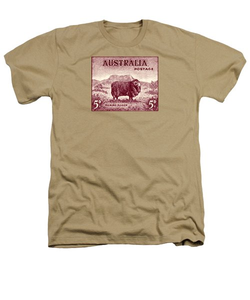1946 Australian Merino Sheep Stamp Heathers T-Shirt by Historic Image