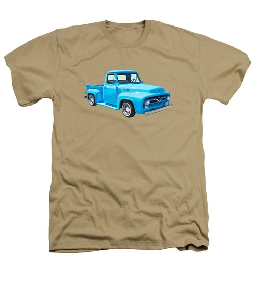 1955 Ford F100 Blue Pickup Truck Canvas Heathers T-Shirt by Keith Webber Jr