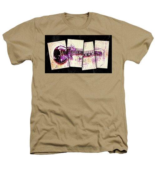 1955 Les Paul Custom Black Beauty V3 Heathers T-Shirt by Gary Bodnar