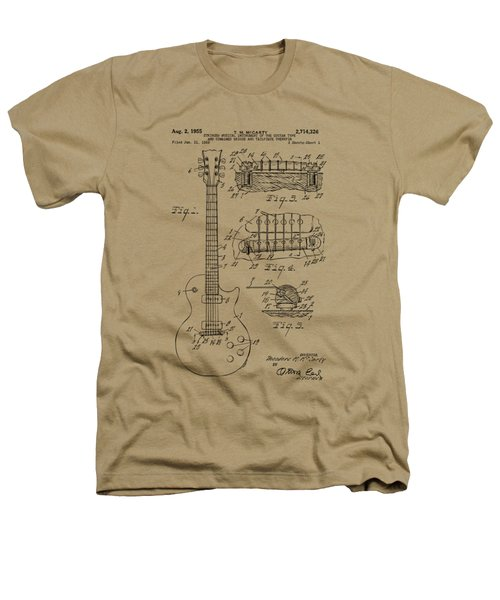 1955 Mccarty Gibson Les Paul Guitar Patent Artwork Vintage Heathers T-Shirt by Nikki Marie Smith