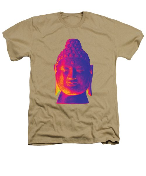 colorful Buddha - Borobudur Heathers T-Shirt by Terrell Kaucher